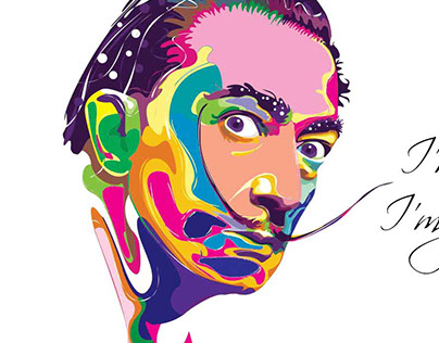 Illustrator portrait of Artist - Salvador Dali
