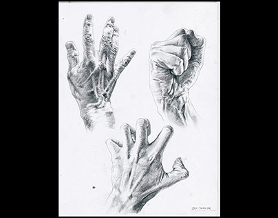 Hand Studies done a year ago