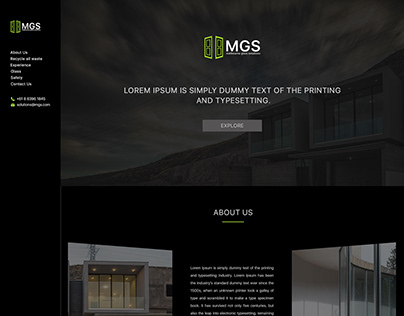 Web design, Logo, BS and branding for MGS