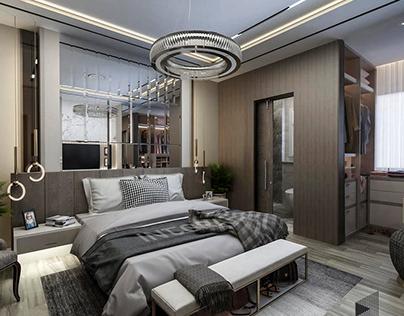 Master bedroom & Dressing & Bathroom
