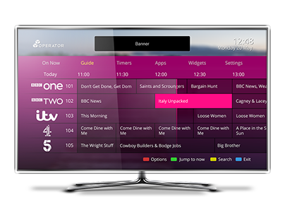 Concept UI for internet enabled TV/STBs #4