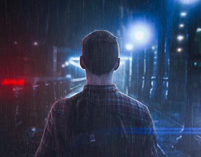 How To Turn Boring Images Into Dramatic Rainy Scene   P