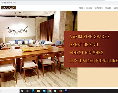 Diseño sitio web, Socaba Carpenter