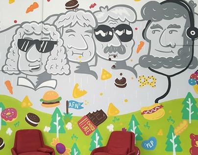 Mount Rushmore Mural for Brigade, San Francisco