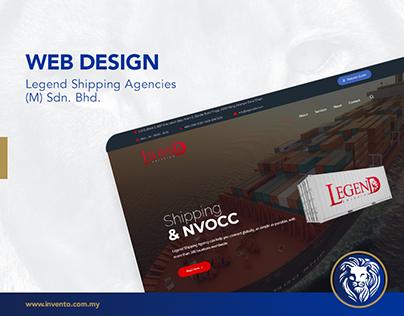 Web Design - Legend Shipping Agencies (M) Sdn. Bhd.