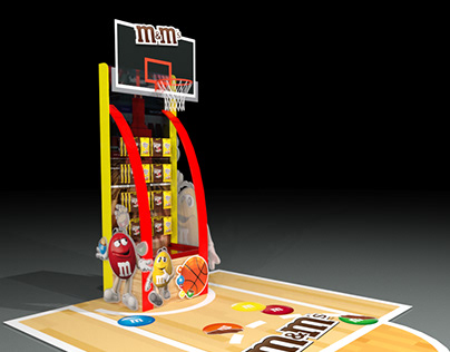 Basketball inspired Floor Display Design