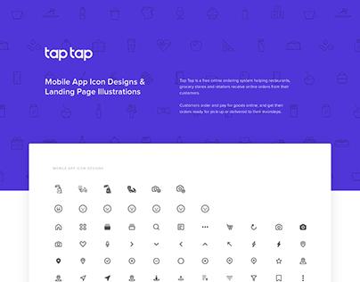 Tap Tap - Mobile App Icon Designs & Web Illustrations