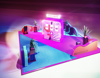 Exhibition Stand / Activation render for UK live event.
