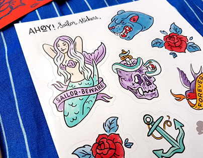AHOY! Sailor Stickers