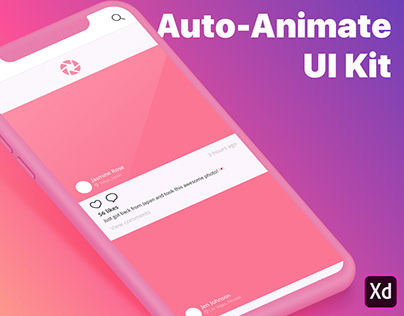 Auto-Animate UI Kit for Adobe XD