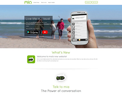 Mia - PSD to WordPress