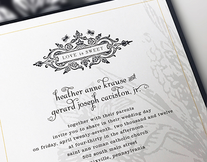 Cavistons | wedding invitation