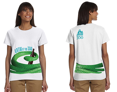Brew at the Zoo T-Shirt Concept