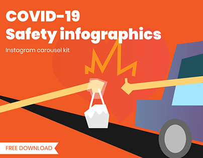 COVID_19 Safety Infographics Instagram Carousel Kit