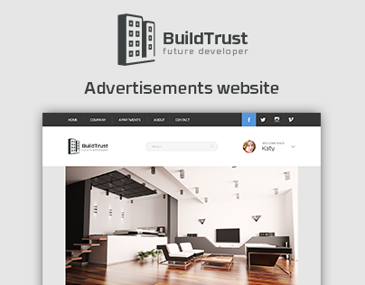 BuildTrust - Advertisement apartments website