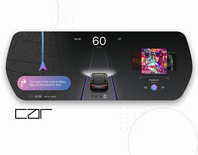 Car Dashboard Interface Concept - Daily UI #034