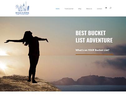 Best Bucket List Adventure Web Design