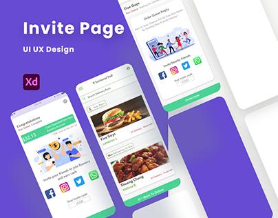 Invite page / referral