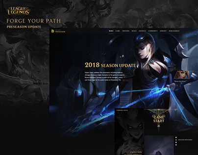 League of Legend - Preseason update page