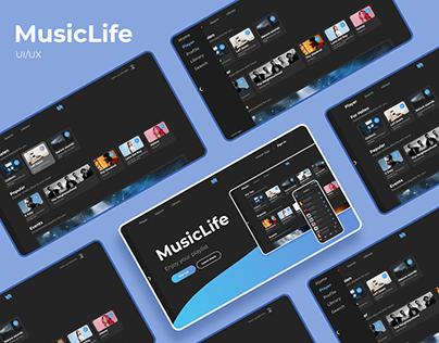 UI/UX Design - Music Player