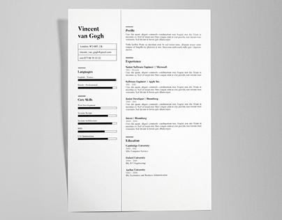 Vincent Van Gogh - FREE resume/CV template | AI
