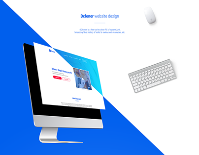 Bclener website design