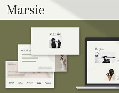 Marsie Presentation Template
