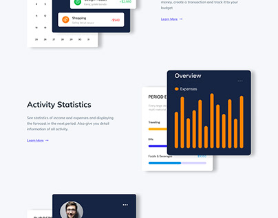 Fintech App Website