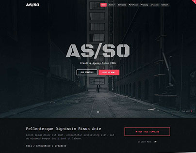 Asso - One Page HTML5 Template