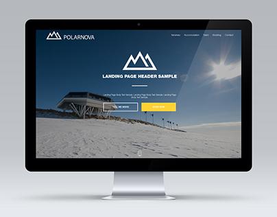 Polar Nova - Website and logo design