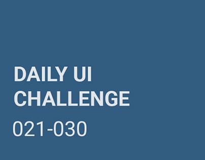 Daily UI Challenge (#dailyui)