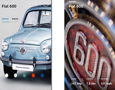 App Fiat 600 UX/UI