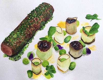 Food Watercolors
