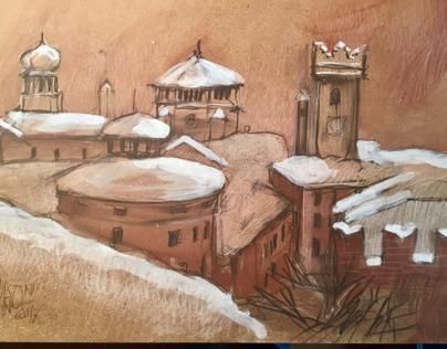Neve sui tetti di trento