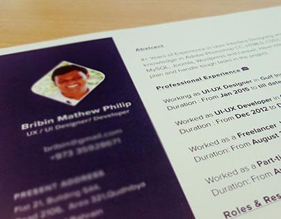 Resume - Bribin Mathew Philip