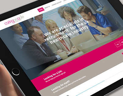 Caring People Recruitment website