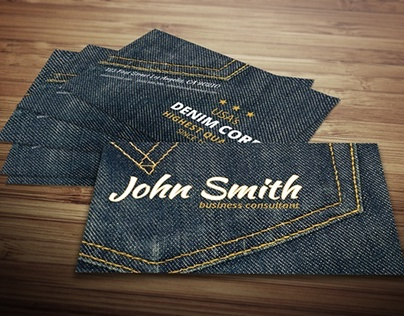 Denim Business Card Template