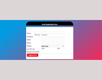 Event Registration From with Gravity