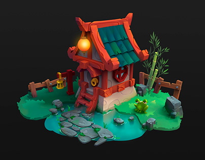 House for casual game environment