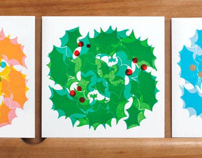 Linocut Christmas Cards: illustration & design