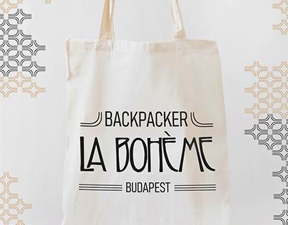 """Merchandising for """"Backpacker La Bohème Budapest"""""""