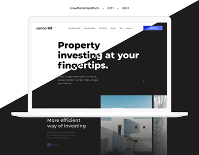 Crowdfunding platform – UX/UI design