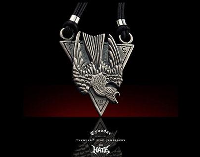HATE Necklace, Hate pendat, nigthhawk - Tyvodar.com