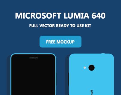 Microsoft Lumia 640 - Free Mockup Download