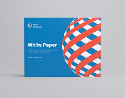 Landscape White Paper Template