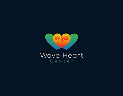 Wave Heart Center logo, Medical logo, Clinic logo