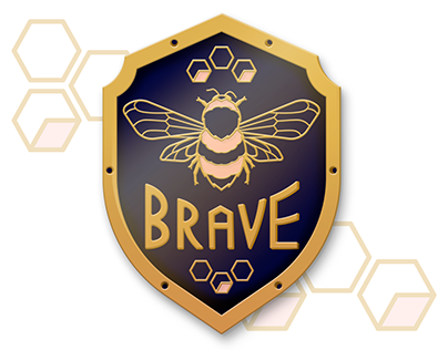 Bee Brave | Enamel Pin Design