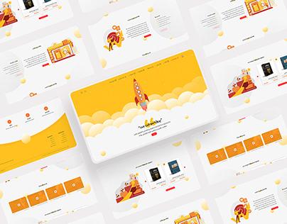 Start-up company Website User Interface Design
