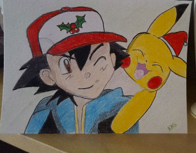 pokemon xmas card