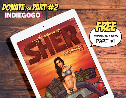 Indiegogo Campaign. Graphic novel. Adventures of Sher